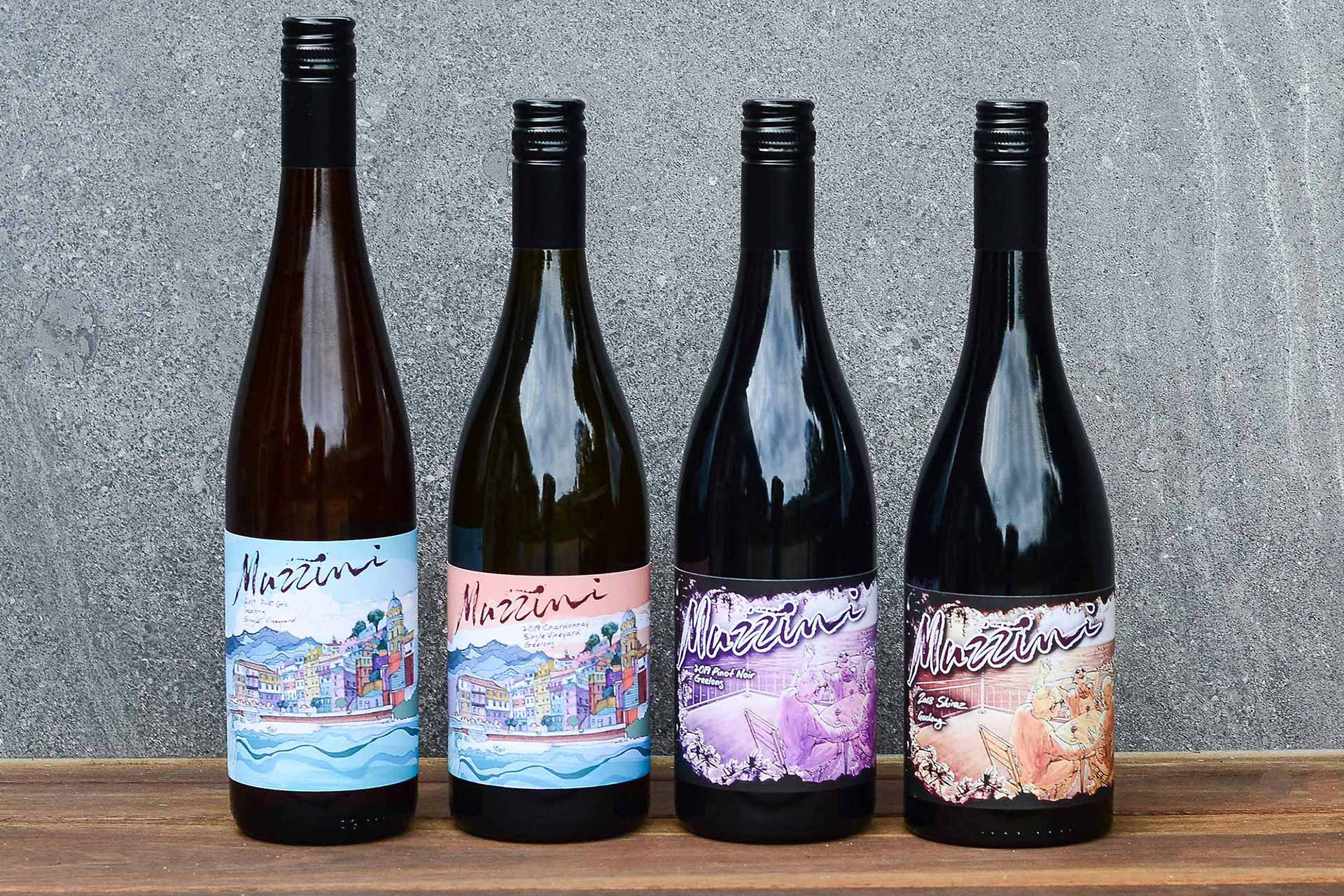 Our Geelong Wine Collection - Shiraz, Pinot Noir, Pinot Gris & Chardonnay